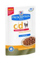 Hill`s Feline C/D Urinary Stress Salmon maaltijdzakjes 4 x 12 x 85 gram