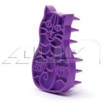 Vachtborstel zoom groom kat paars