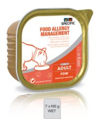 Specific Cat Food Allergy Management FDW  4 x 7 x 100 gram