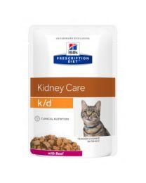 Hill`s Feline K/D maaltijdzakjes 48 x 85 gram Rund