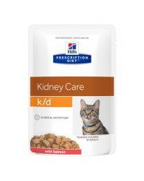 Hill`s Feline K/D maaltijdzakjes 12 x 85 gram Zalm