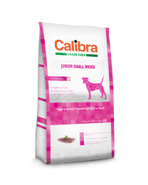 Calibra Dog Grain Free Junior Small Breed Eend/aardappel 7kg