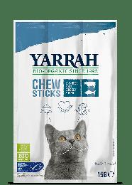 Yarrah Bio Kattenkauwstaafjes - 5 x 15 gram