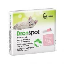 Dronspot 60mg/15mg SO middelgrote kat 2 pipetten