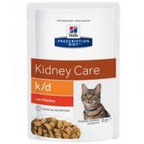 Hill`s Feline K/D maaltijdzakjes 12 x 85 gram Kip