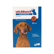 Milbemax Kauwtablet Hond Groot 4 tabletten