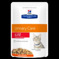 Hill's Prescription Diet c/d Urinary Stress Feline met Kip - 12 x 85 gram
