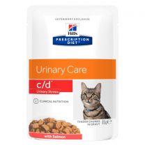 Hill's Prescription Diet c/d Urinary Stress Feline met Zalm - 4 x (12 x 85 gram)