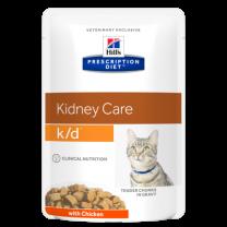 Hill`s Feline k/d maaltijdzakjes 48 x 85 gram KIP