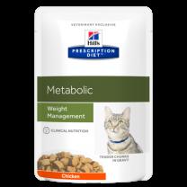 Hill's Prescription Diet Metabolic Feline (kip) pouch - 4 x (12x85g)