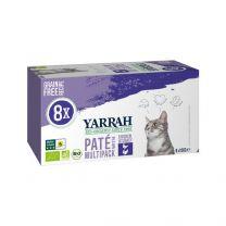 Yarrah Kat Multipack Paté Kip/Kalkoen 8 x 100 gram