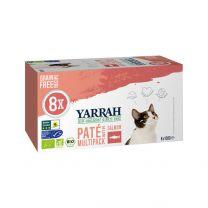Yarrah Kat Multipack Paté Zalm 8 x 100 gram