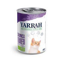 Yarrah Kat met Kip/Kalkoen Chunks Blik 12 x 405 gram