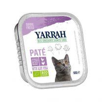 Yarrah Kat Pate Kip/Kalkoen 16 x 100 gram